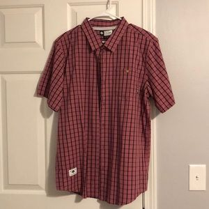 Other - Men's pink plaid button up. Never worn. Size XL